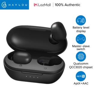 Haylou GT1 XR Tai nghe không dây cảm ứng điều khiển kết nối bluetooth 5.0 có hiển thị mức pin sử dụng chip Qualcomm QCC 3020 và giải mã HD kép Aptx+AAC hủy tiếng ồn - INTL thumbnail