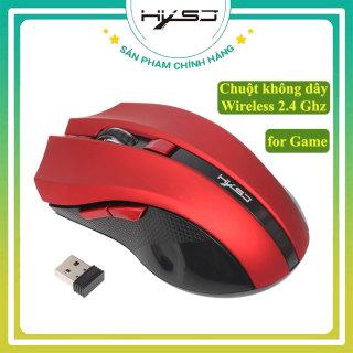 [Tặng Lót chuột] Chuột Game không dây HXSJ X50, Chuột không dây USB Wireless 2.4GHz cao cấp công nghệ quang học kết nối lên đến 10m- Hàng chính hãng bảo hành 12 tháng thumbnail