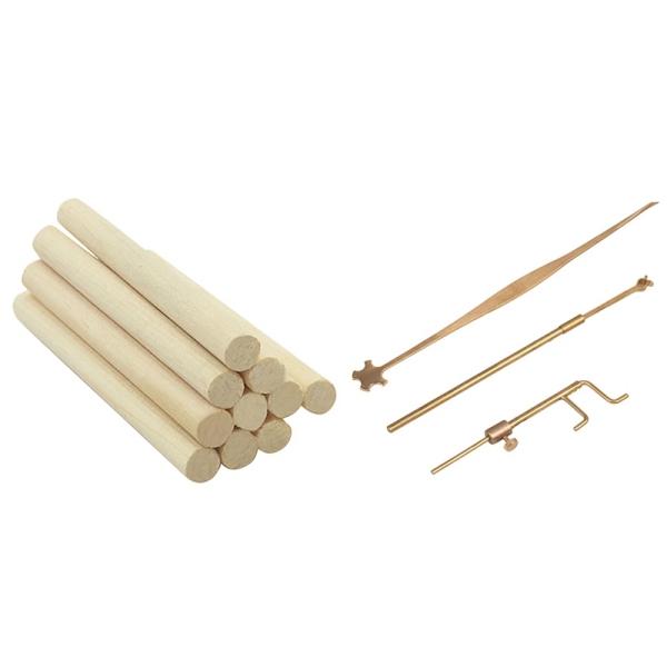 10x Violin Column Spruce Sound-Post Sound Post 70mm & 1set Violin Luthier Tools Sound Post Gauge Measurer Retriever Clip