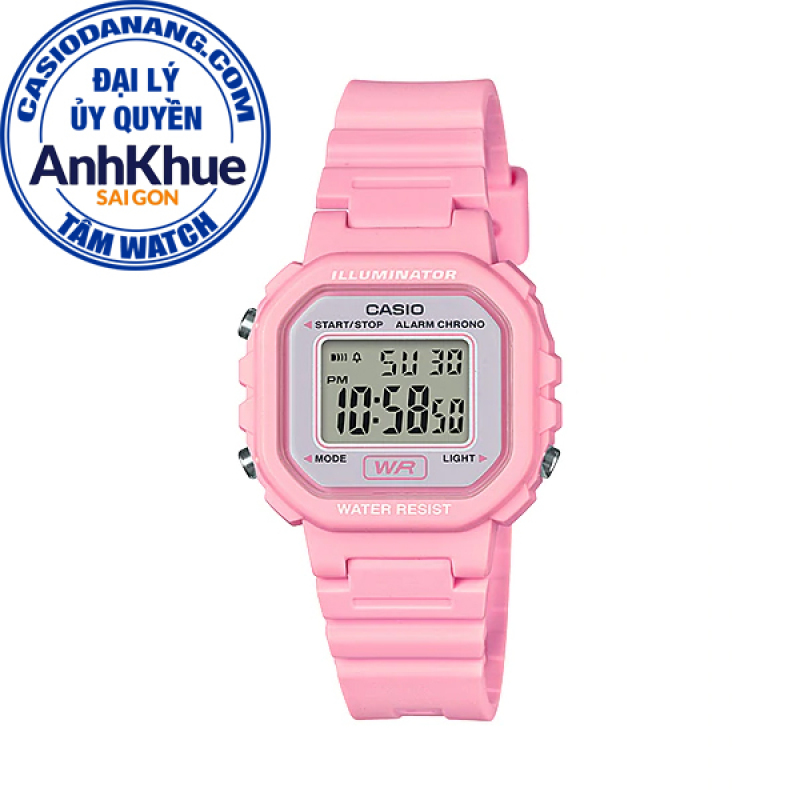 Đồng hồ nữ dây nhựa Casio Standard chính hãng Anh Khuê LA-20WH-4A1DF
