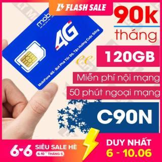 Sim 4G MobiFone C90N 120GB tháng (4 GB ngày + 1000 phút nội mạng + 50 phút liên mạng) thumbnail