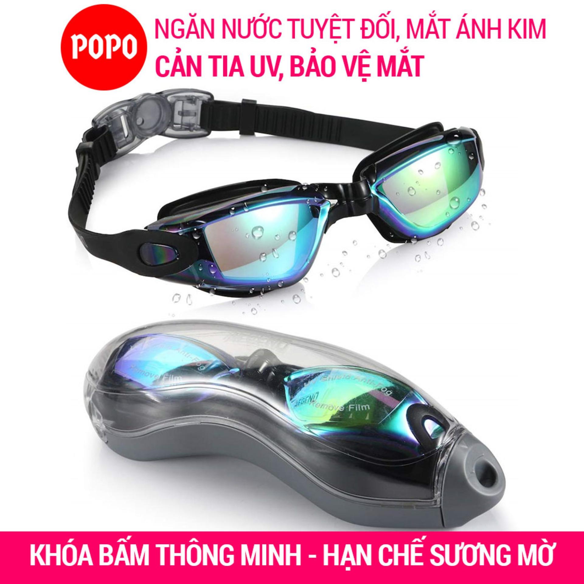 Kính Bơi ánh Kim Chống Tia UV POPO P2360 Chống Hấp Hơi Kiểu Dáng Thể Thao Khóa Bấm Phía Sau Dễ Dàng đeo Và Tháo Kính Bơi Bất Ngờ Giảm Giá