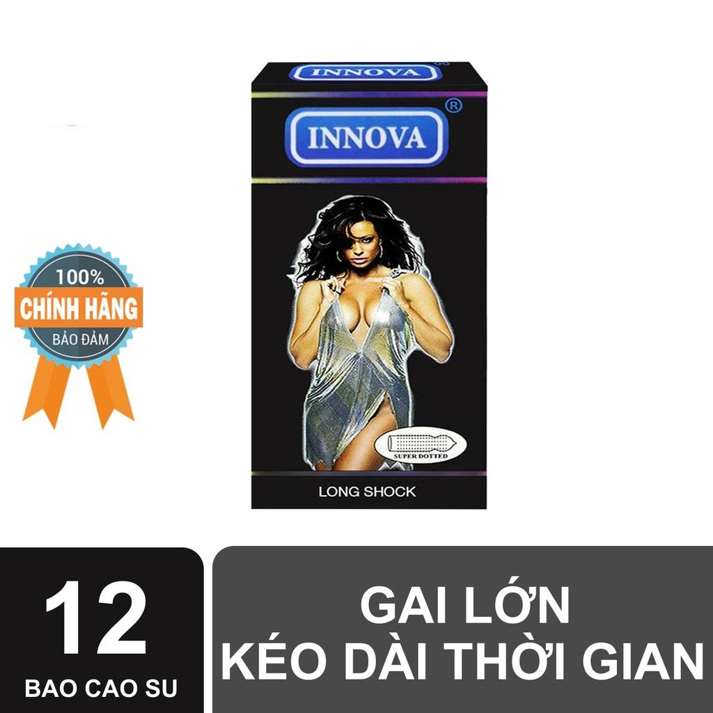 ( HÀNG CHÍNH HÃNG )Bao cao su Innova  (Đen - Gai) hộp 12 cái nhập khẩu