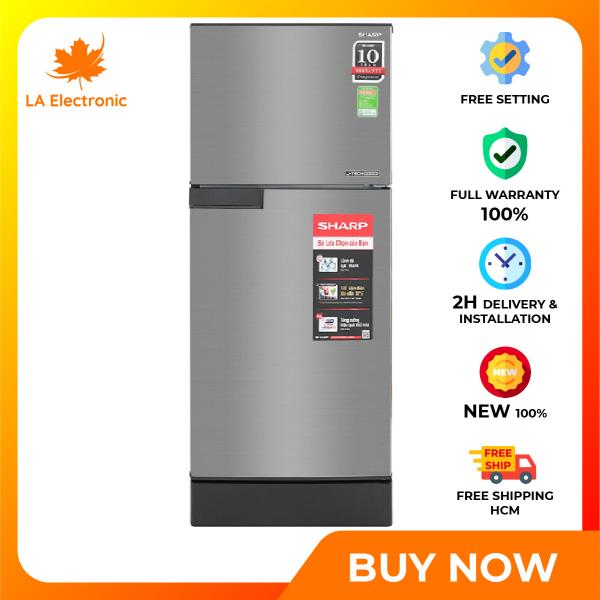 Trả Góp 0% - Tủ Lạnh - Sharp Inverter 150-liter refrigerator SJ-X176E-SL Full VAT - Miễn phí vận chuyển HCM