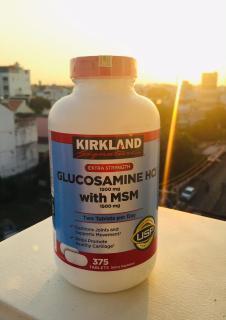 Viên uống bổ khớp Kirkland Glucosamine 1500mg MSM 1500mg 375 Viên thumbnail