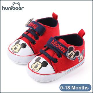 【Hunibear】Baby Chàng Trai Cô Gái Giày Mềm Duy Nhất Phim Hoạt Hình Chống-Slip Bé Vải Giày Bé Giày 0-18 Tháng