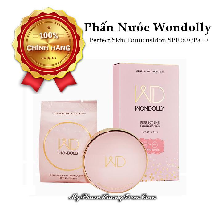 Phấn Nước Wondolly Perfect Skin Founcushion SPF 50+/Pa ++ - 1 Lõi Dự Phòng