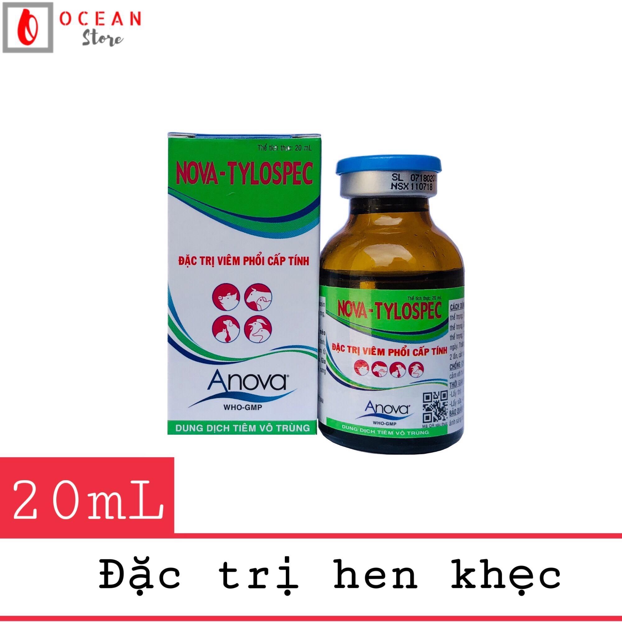 Thuốc trị viêm phổi cấp tính cho gà đá NOVA - Tylospec 20ml