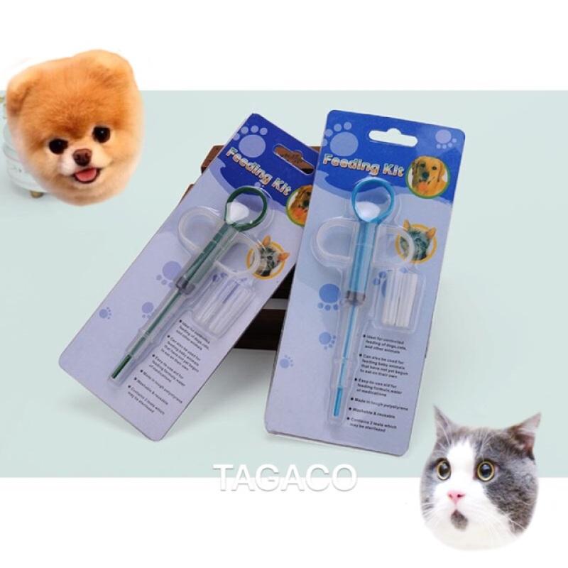 Dụng Cụ Bơm Thuốc Và Thức Ăn Cho Chó Mèo!!