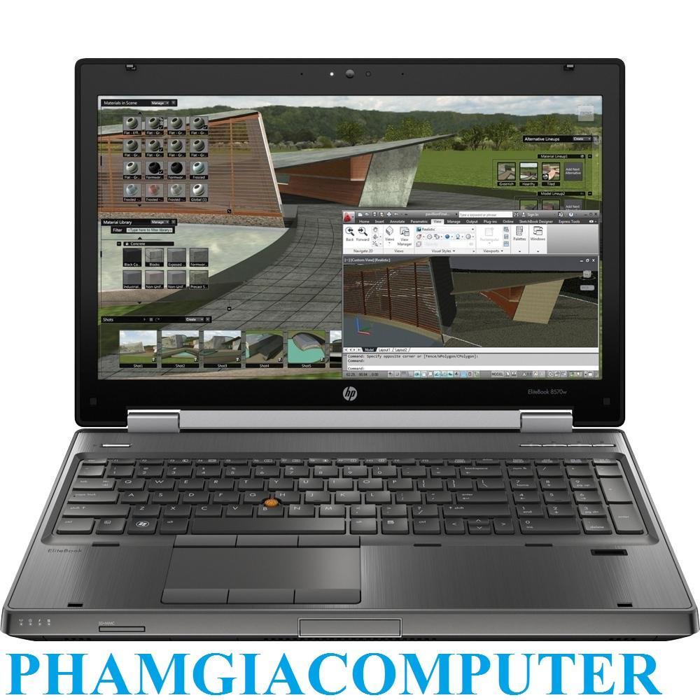 Mã Ưu Đãi Khi Mua Laptop Máy Trạm HP Elitebook 8570w Workstation Core I7 RAM 8G SSD 256G  15.6in FHD VGA K1000 Chuyên đồ Hoạ, Game GTA5 PUBG- Tặng Balo, Chuột Wireless
