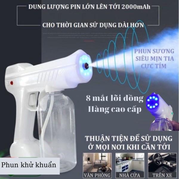 Máy Phun Khử Khuẩn NANO 8 Mắt Lõi Đồng Diệt Khuẩn Diệt Virus Bằng Tia UV