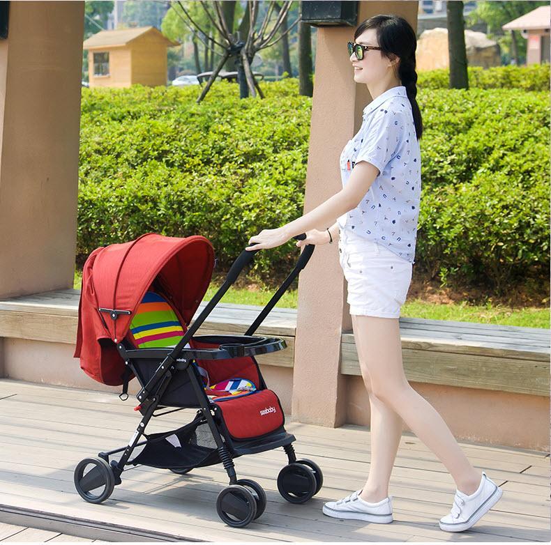 Xe đẩy trẻ em cao cấp 2 chiều Seebaby T11 cho bé TẶNG MÀN CHỐNG MUỖI