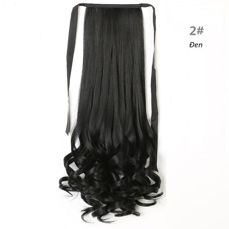 Tóc Cột Xoắn Đuôi Cao Cấp 2/33 ( Đen ) 48cm nhập khẩu