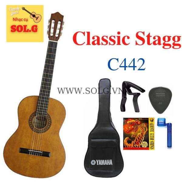 Guitar Classic Stagg C442 Gỗ Tốt, Âm thanh Trầm Ấm + Phụ kiện - Nhập khẩu Bỉ - Phân phối Sol.G