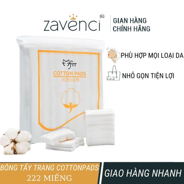 Bông tẩy trang 3 lớp cotton pads zavenci 222 miếng, làm sạch da, mềm mịn khi dùng, an toàn cho da, thích hợp mọi loại da cao cấp