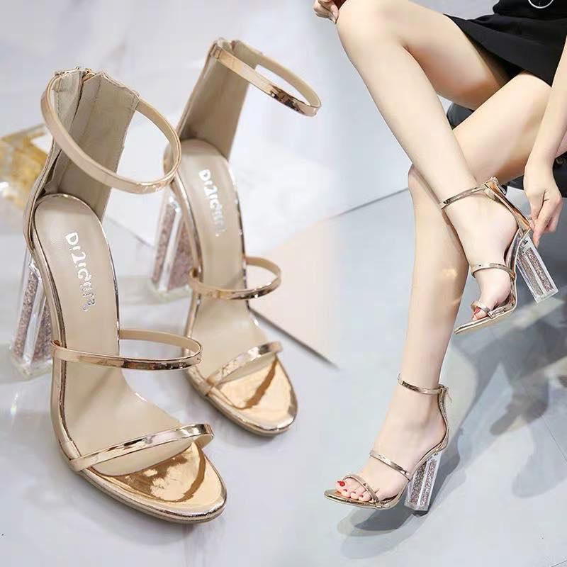Giày Cao Gót ánh Vàng Kim Tuyến - Cg472 Giá Cực Cool