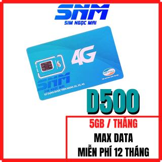 Sim 4G Viettel Trọn Gói 1 Năm D500( 4Gb Tháng ) - Sim D500 thumbnail