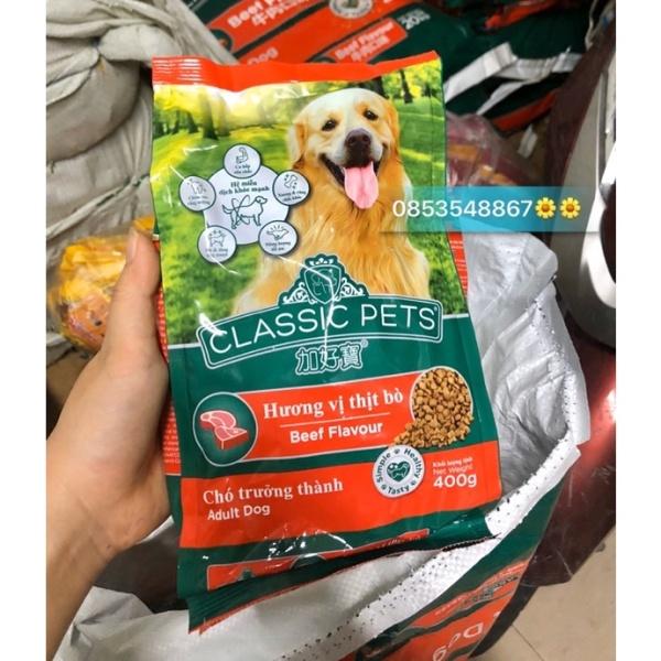 Thức Ăn Hạt Cho Chó Classic Pets 400g Vị Bò Cho Chó Lớn - Sản Phẩm Cao Cấp.