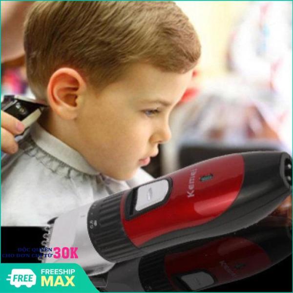 Tông đơ cắt tóc chuyên nghiệp tphcm giá rẻ KM-730 (Đỏ), Tông đơ cao cấp Gồm: 1tông đơ, 1 pin sạc, 1 sạc pin, 1 lược chỉnh cỡ có 3 cỡ khác nhau, 1 lọ dầu máy, 1 chổi