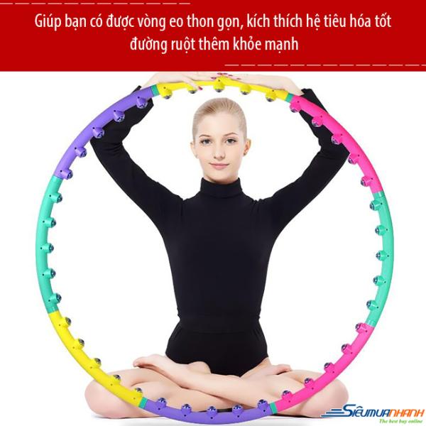 Vòng Lắc Eo Thông Minh Massage Hoop, Vòng Lắc Eo Giảm Cân Giúp Đánh Tan Mỡ Bụng