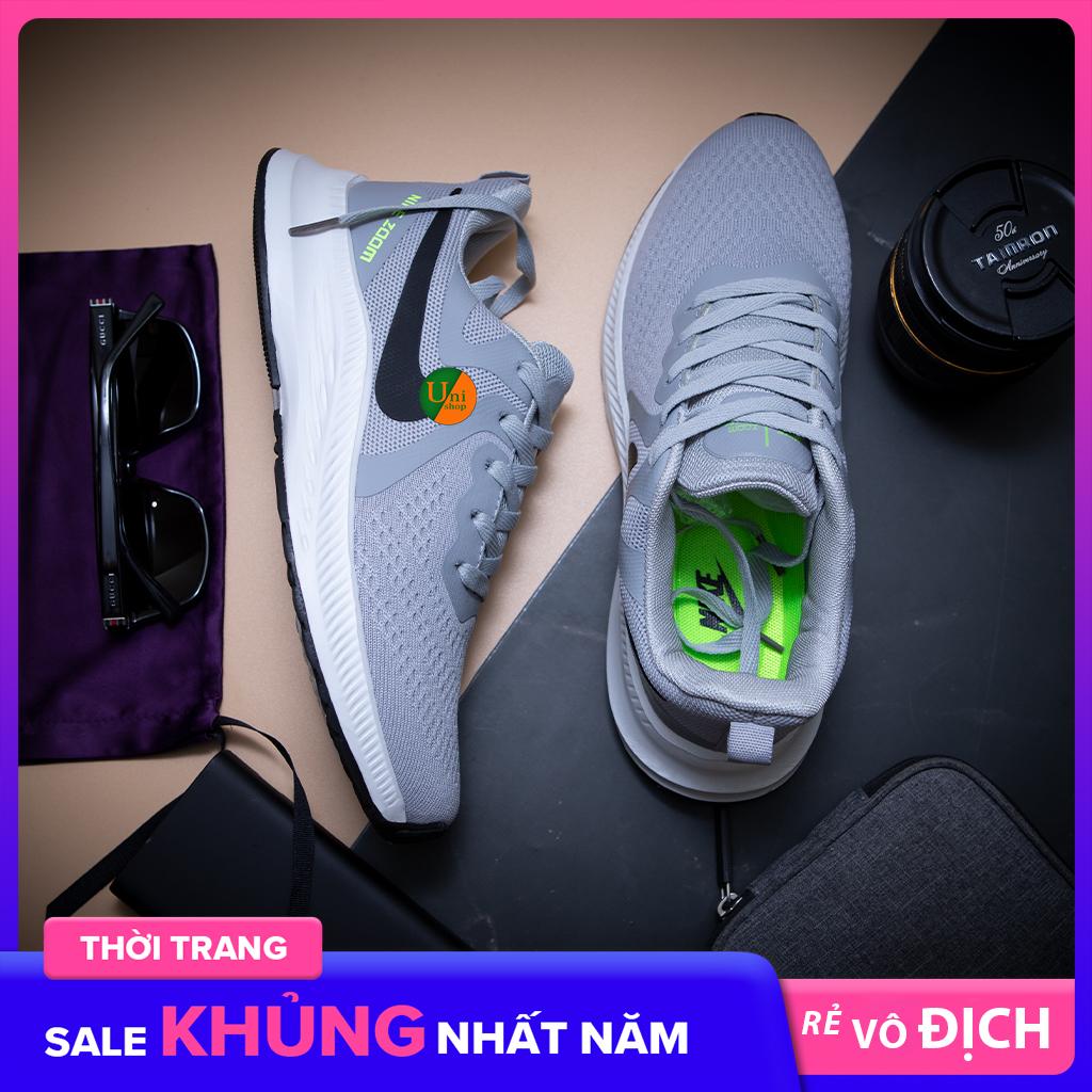 Giày sneaker nam giày thể thao nam T06 màu ghi xám giày ulzzang nam giày chạy bộ nam giày thời trang nam