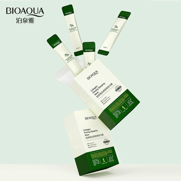 Mặt nạ thạch ngủ collagen BIOAQUA hộp 20 gói