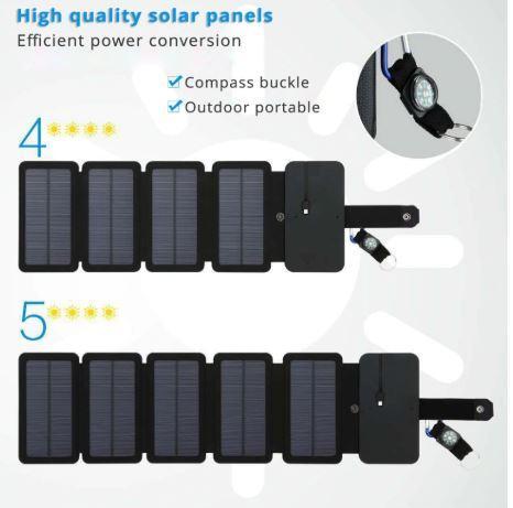 Pin năng lượng mặt trời 4 tấm 5 tấm sử dụng siêu ổn định và lâu bền Năng lượng xanh cho cuộc sống xanh