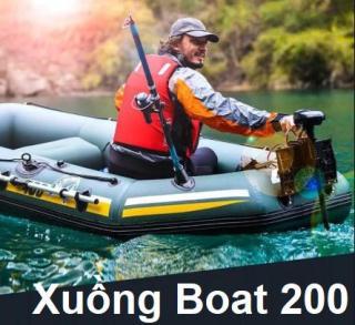 Xuồng Hơi Cao Su, Thuyền Bơm Hơi, Xuong Bom Hoi Cau Ca Xuồng Boat 200 chống chịu tốt dưới sự ảnh hưởng của sự cọ xát, va đập và nắng mặt trời, Chịu Lực Lên Tới 200 Kg, Tặng phiếu bảo hành 1 năm Toàn quốc thumbnail