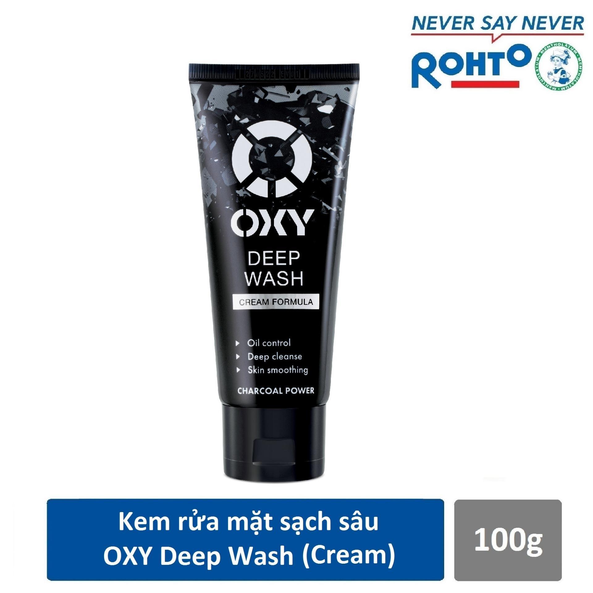 Sữa rửa mặt sạch sâu OXY Deep Wash (Cream) 100g