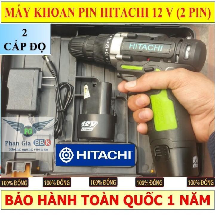 MÁY KHOAN PIN HITACHI12V MADE IN JAPAN - 2 PIN
