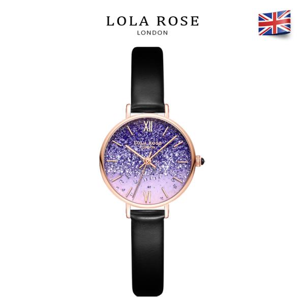 Đồng hồ nữ sang trọng đồng hồ Lolarose thạch anh và pha lê tím độc đáo mặt tròn 30mm phù hợp cho cô nàng nữ tính dễ thương bảo hành 2 năm LR2218 đồng hồ nữ dây da bán chạy