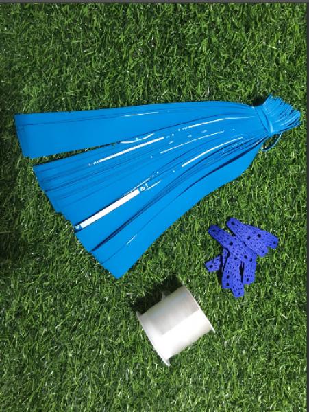 Bảng giá combo 40 sợi chun ae band 0.6mm tặng kèm 10 miếng da và 2 mét dây buộc