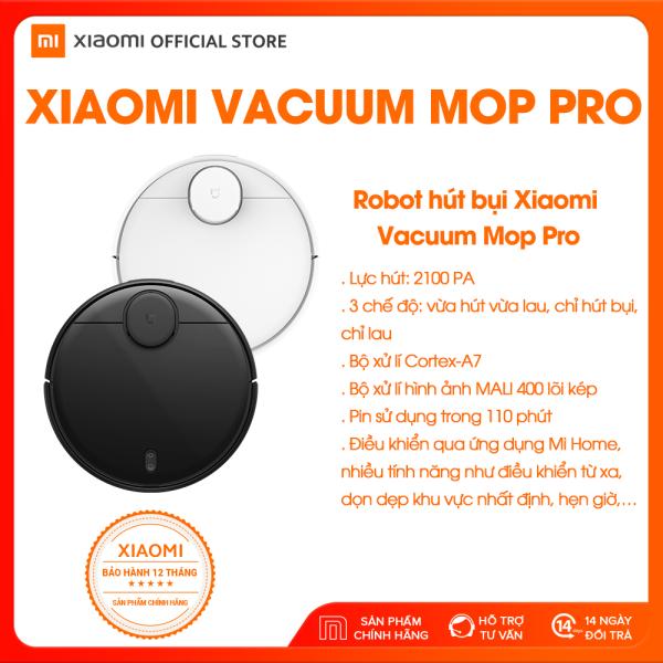 [XIAOMI OFFICIAL] Robot hút bụi lau nhà thông minh Xiaomi Mi Vacuum Mop PRO - Cảm biến Laser LDS, Điều khiển bằng ứng dụng, tự động thiết lập quãng đường, công nghệ AI,  Hỗ trợ Google Assistant - Bảo hành Chính Hãng 12 tháng