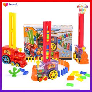 Đoàn Tàu Hỏa Xếp Domino Tự Động Cho Bé Thỏa Sức Sáng Tạo, Xe Lửa Nhả Domino, Món quà đặc biệt tặng bé thumbnail