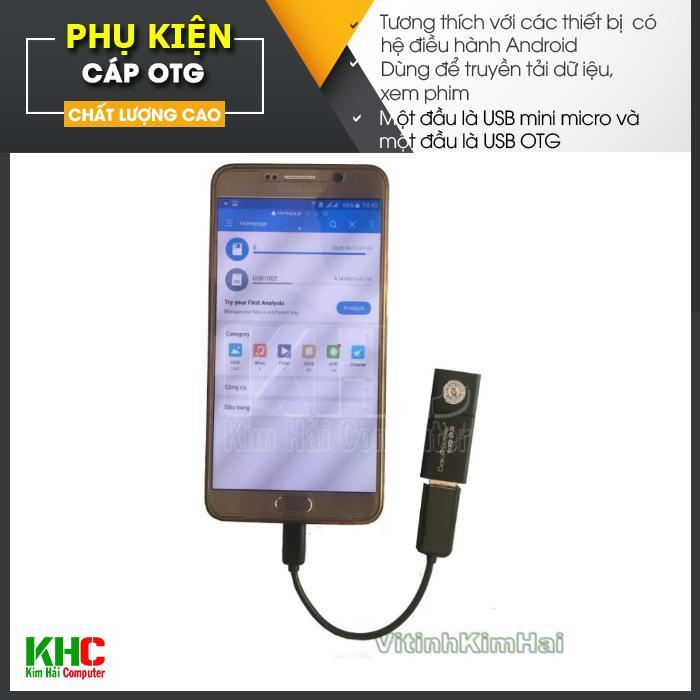 Cáp OTG cho điện thoại và máy tính bảng (Nhiều màu - giao ngẫu nhiên) - Kim Hải Computer - KHC