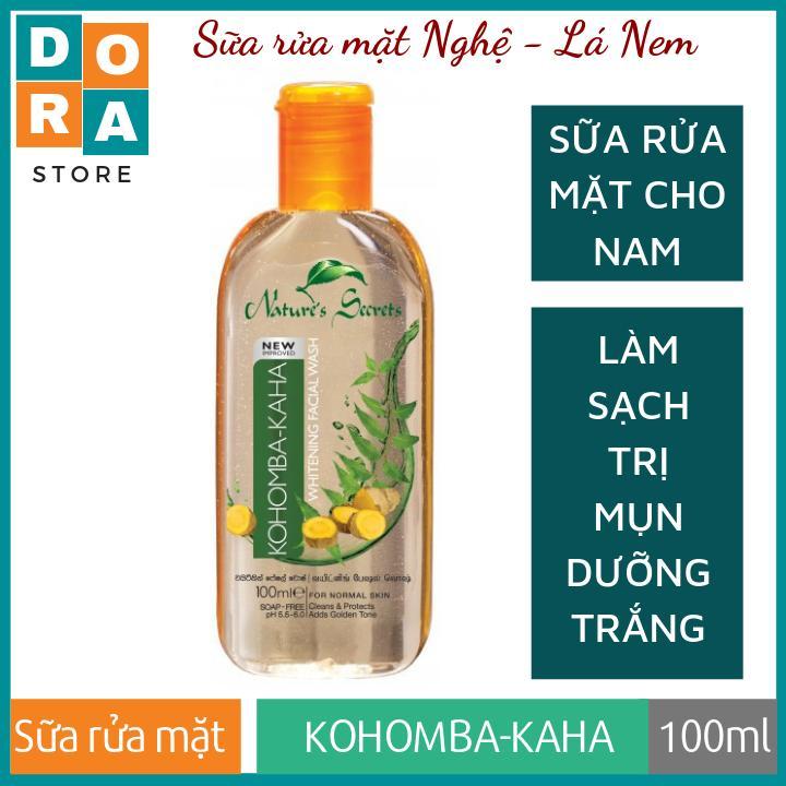Sữa rửa mặt cho nam Kohomba - Kaha Extract Facial Cleansing Gel 100ml