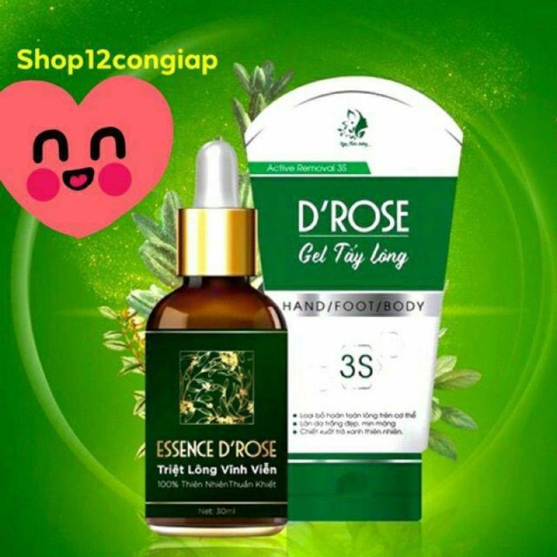 [SALE] Combo gel tẩy lông và serum triệt lông DROSE