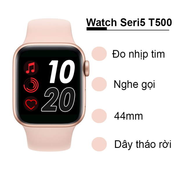 Đồng Hồ Thông Minh T500+  Smart Watch Seri 5,6 - SMART WATCH T500+pluss  -Chống Nước- Thay được hình nền tùy ý  -Thiết kế thời thượng,thông minh - Nghe gọi trực tiếp - Giao diện tổ ong -Pin Cao-Thiết Kế Phong Cách Trẻ Trun