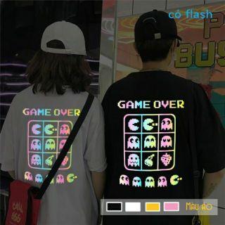 [HCM]Áo thun TAY NGẮN phản quang 7 màu Game Over (CHỤP FLASH)(TAY LỠ IB) thumbnail