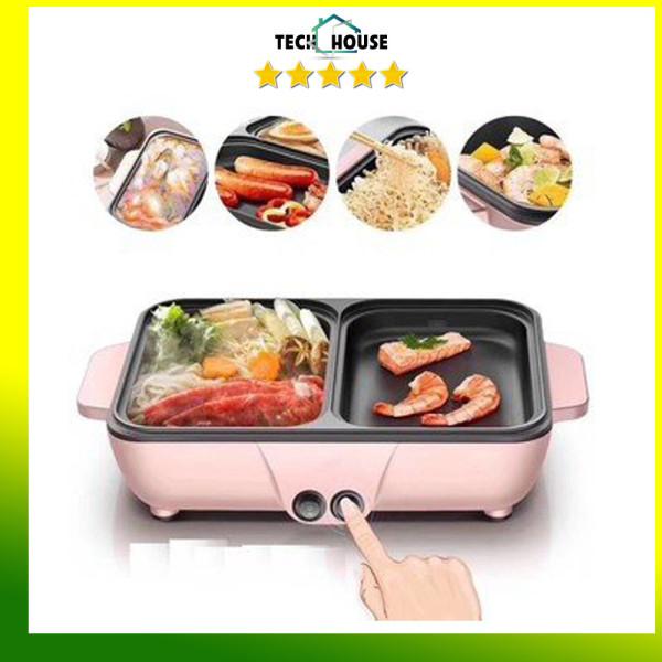 Nồi lẩu nướng korea 2 trong 1| nồi lẩu mini Hàn Quốc| bếp lẩu nướng tiện dụng, chất lượng đảm bảo an toàn đến sức khỏe người sử dụng, cam kết hàng đúng mô tả
