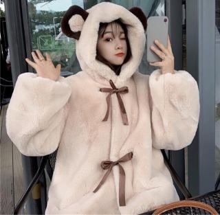 Thế Trình Store ( KÈM ẢNH THẬT) Áo Lông Gấu Nữ Buộc Nơ Đáng Yêu Hottrend 2021 thumbnail