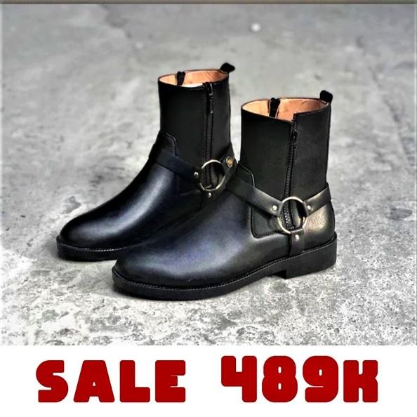 Giày da nam Harness Boots Da Bò Cao Cấp Đế Cao Su Êm Cực Bền Made in VIETNAM - BẢO HÀNH 12 THÁNG giá rẻ