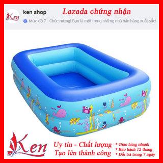 [CƠN LỐC GIÁ SỐC] Bể bơi phao 2 tầng cho bé size 115x85x35cm- Bể bơi phao cho bé hình chữ nhật họa tiết dễ thương- Bể bơi phao cho bé- Bể bơi 2 tầng cho bé- Bể bơi phao thumbnail