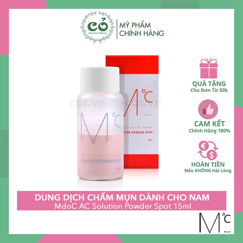 Dung Dịch Chấm Mụn Xẹp Mụn Nhanh Dành Cho Nam MdoC AC Solution Powder Spot 15ml giá rẻ