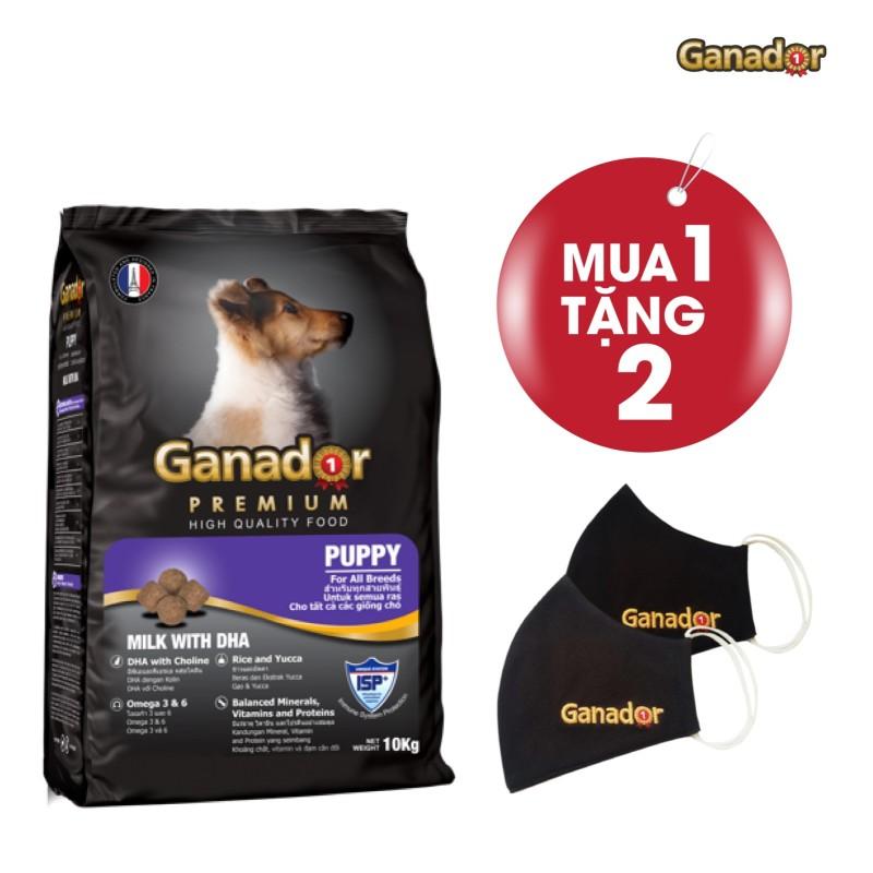 Thức ăn cho cún cưng Ganador vị sữa & DHA Puppy Milk with DHA 10kg