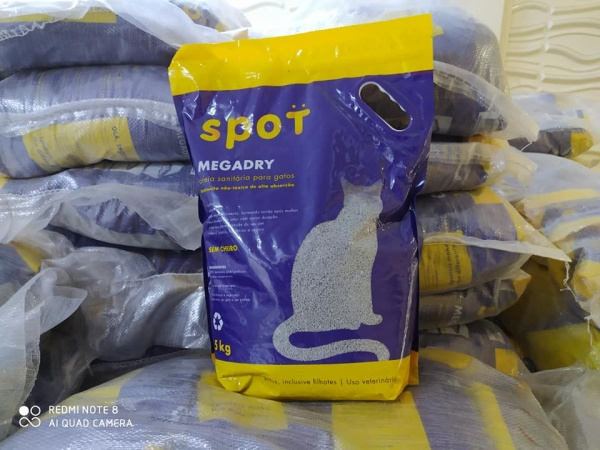 Cát vệ sinh mèo spot 5kg, sản phẩm khoáng thiên nhiên không có phụ gia, không gây hại cho vật nuôi và con người
