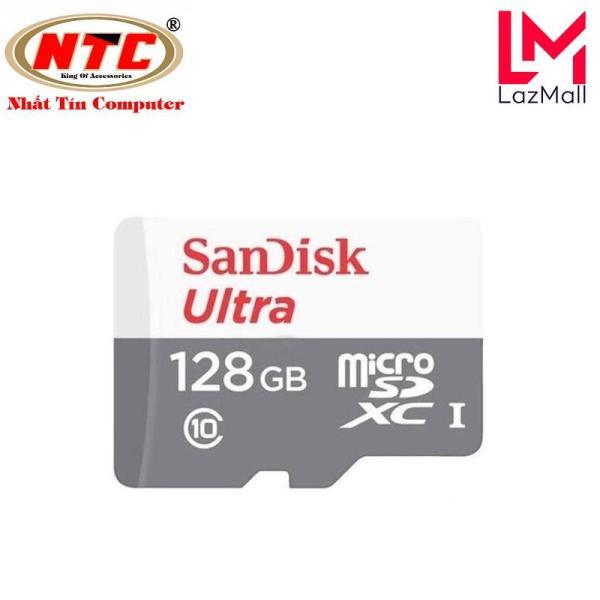 [TẶNG 10 BAO LÌ XÌ] Thẻ Nhớ MicroSDXC SanDisk Ultra 128GB Class 10 80MB/s (Xám)