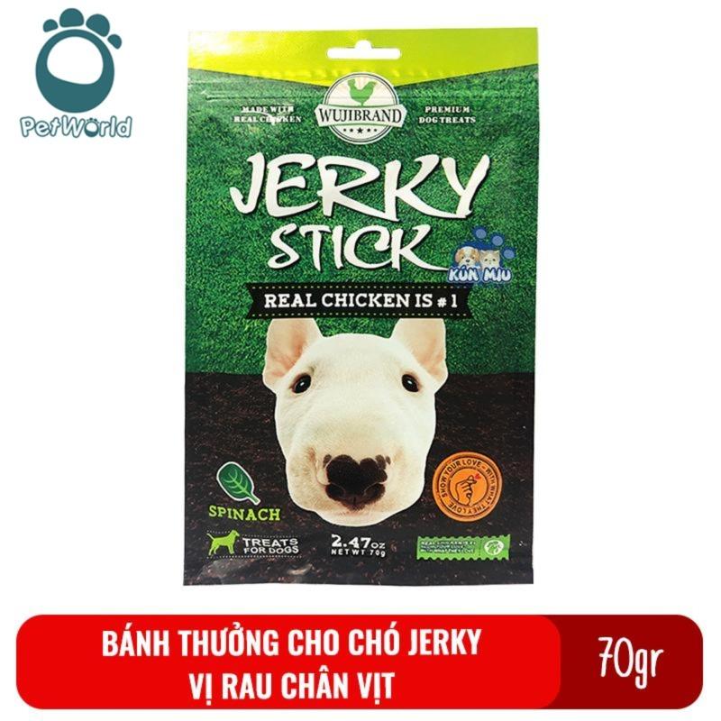 Bánh thưởng cho chó Jerky 70gr - Vị rau chân vịt