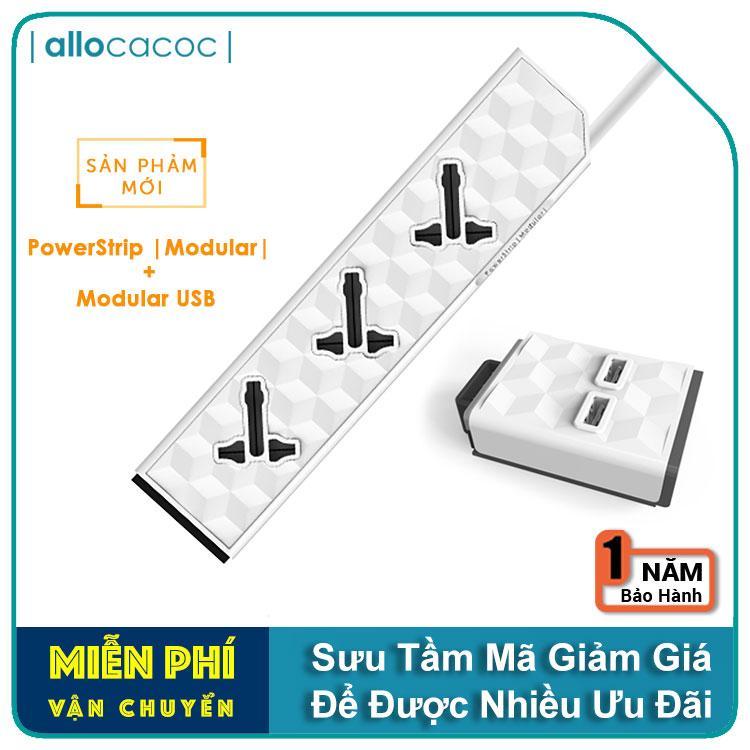 Bộ Combo 2 Sản Phẩm PowerStrip Modular và Modular USB