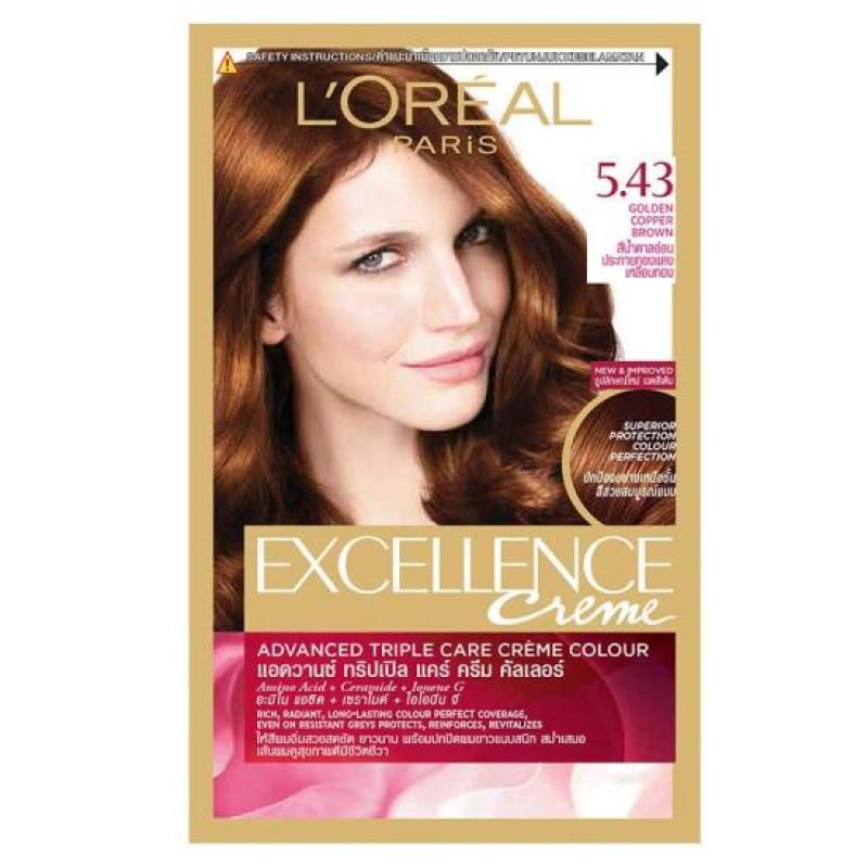 Thuốc Nhuộm Tóc LOreal 5.43 Golden Copper BrownCream Hair Color Excellence 172ml cao cấp